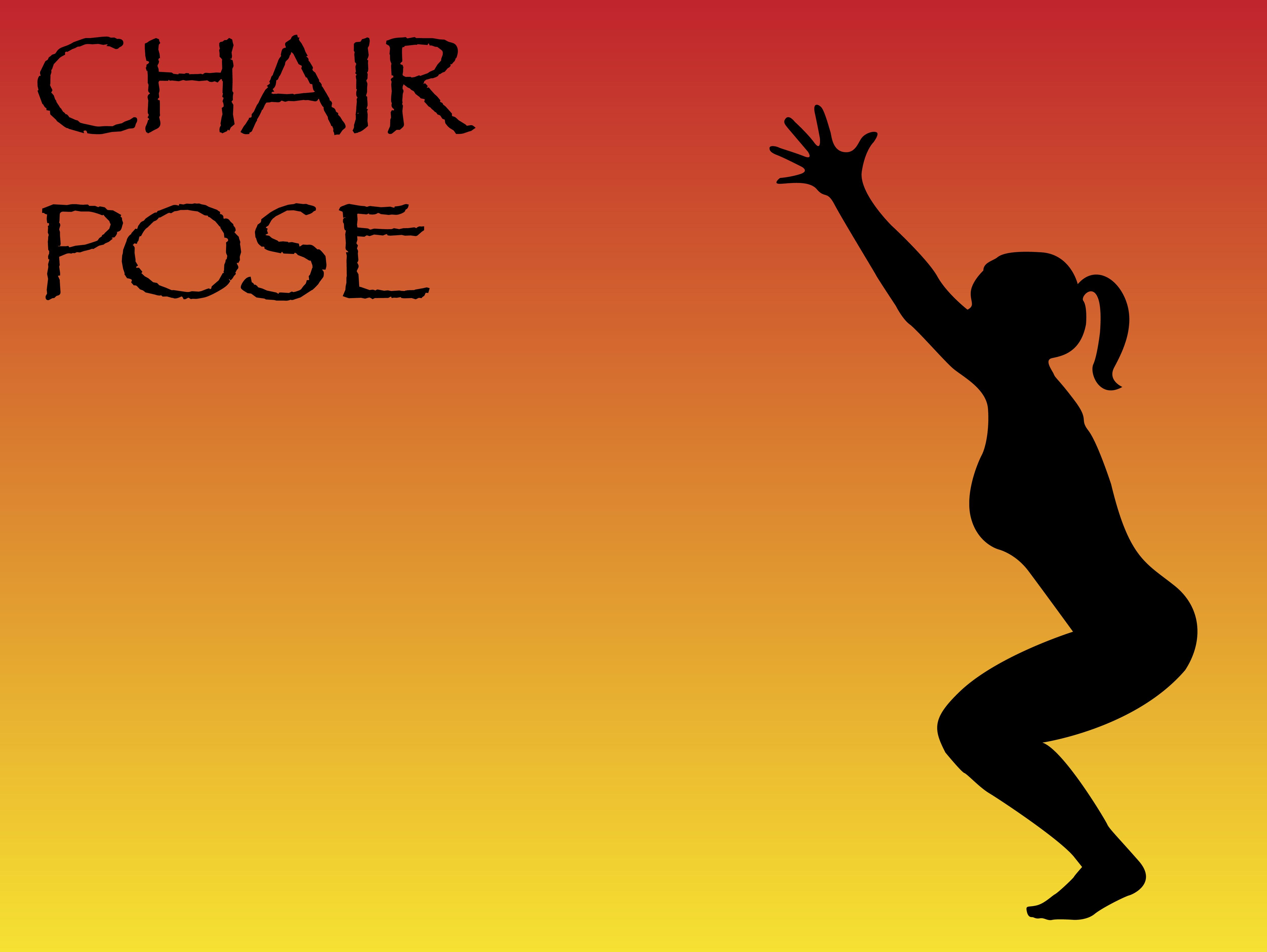 Yoga Woman Chair Pose
