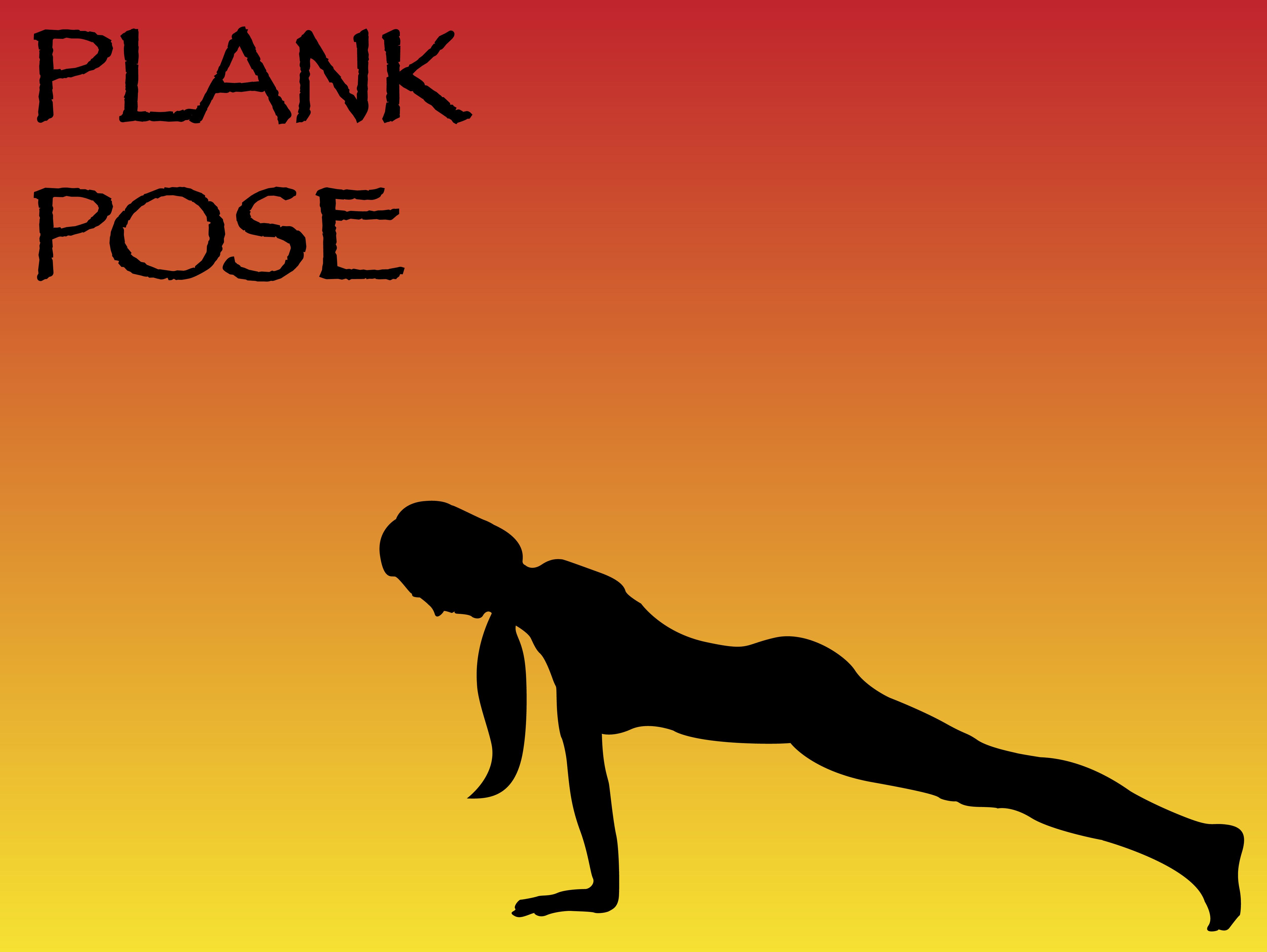 Yoga Woman Plank Pose